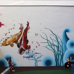 Kids playground mural painting