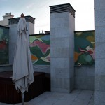 Outdoors mural painting. Madrid