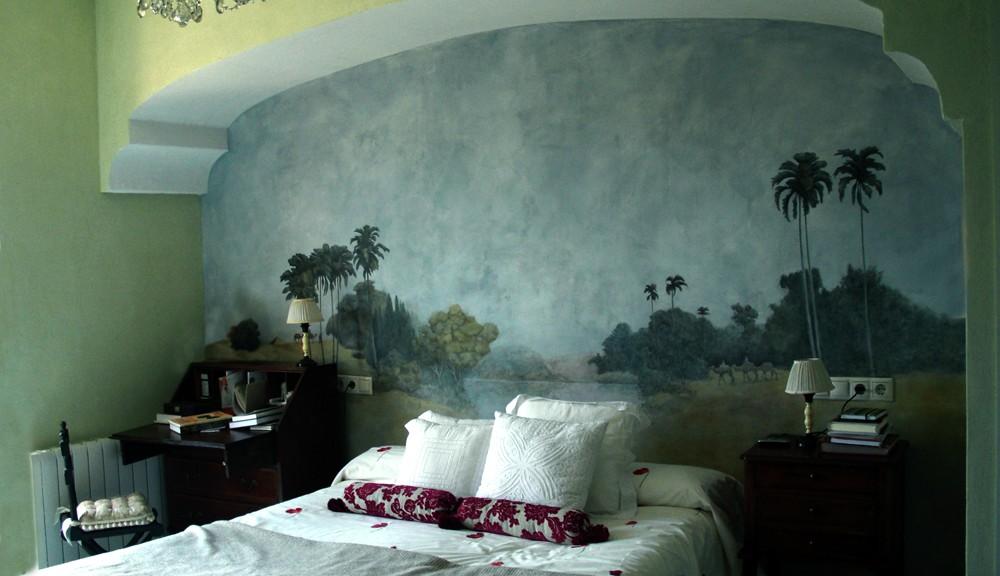 mural sobre cama