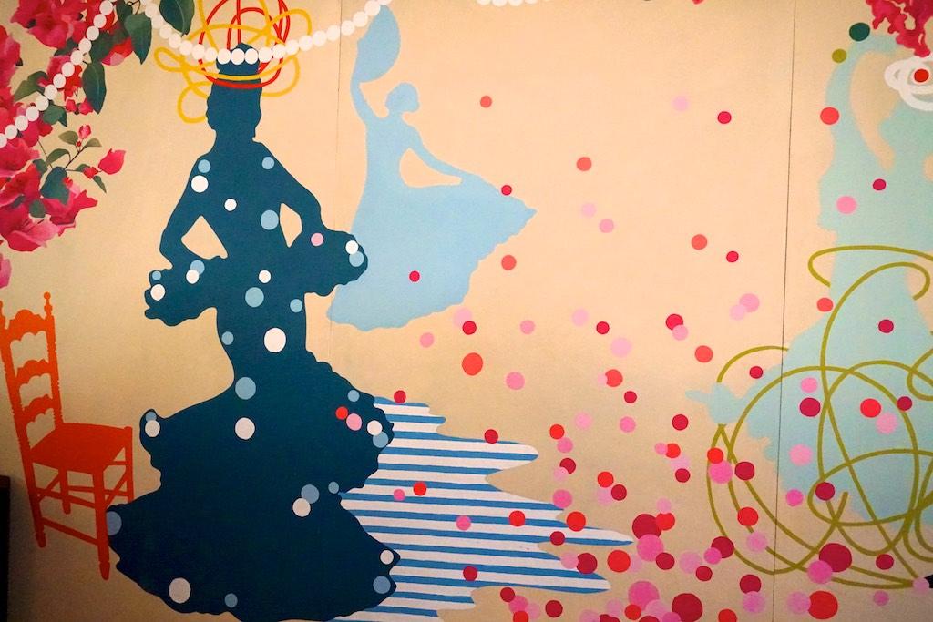 Pintura mural para caseta de Feria 2019. Córdoba
