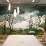 Mural en la Caja Rural de Baena